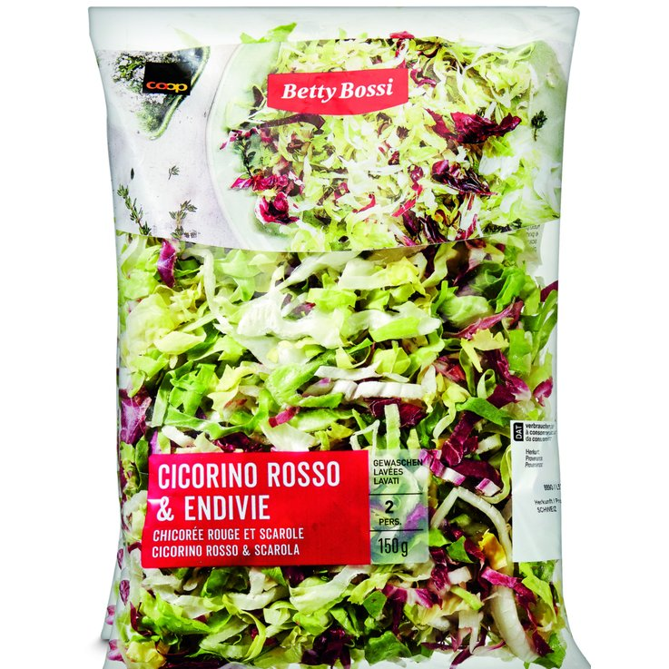 Pre-Packaged Fresh Salads - Betty Bossi Scarole & Red Endive Salad