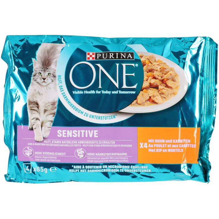 Wet Food - One Sensitive Chicken Cat Food in Sauce 4x85g