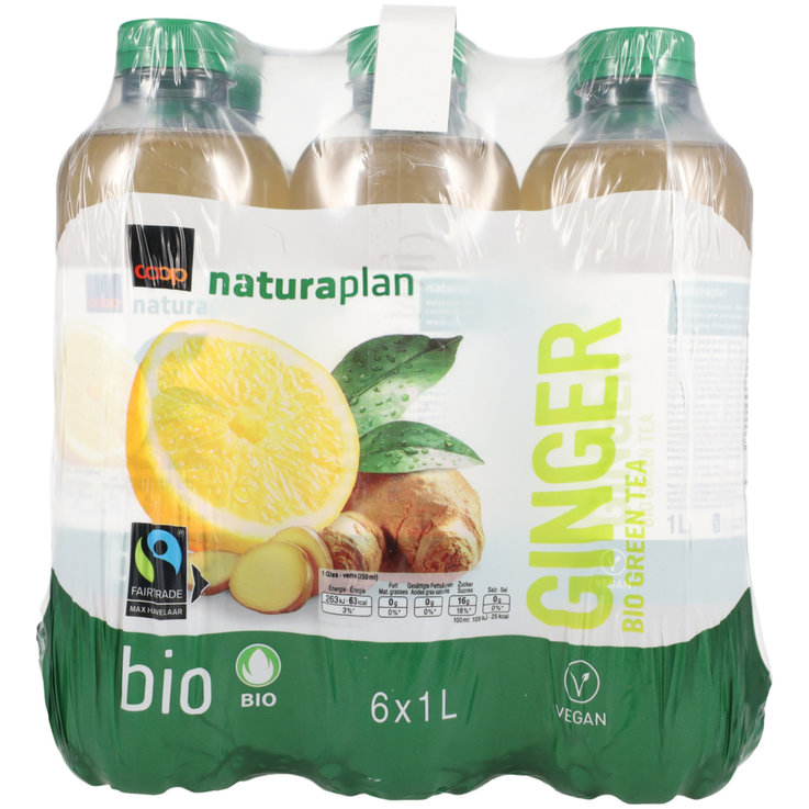 Special Ice Tea - Naturaplan Organic Ginger Green Ice Tea 6x1l