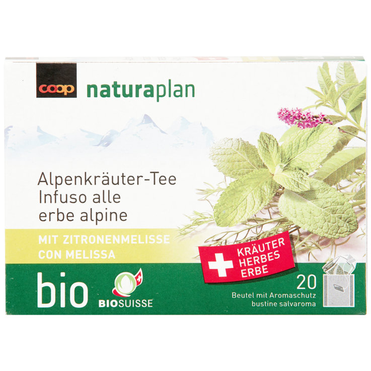 Herbal Tea - Naturaplan Organic Alpine Herbal Tea with Lemon Balm 20 Bags
