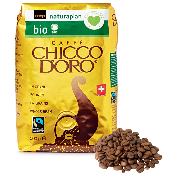 Coffee Beans - Chicco d'Oro Naturaplan Organic Fairtrade Coffee Beans