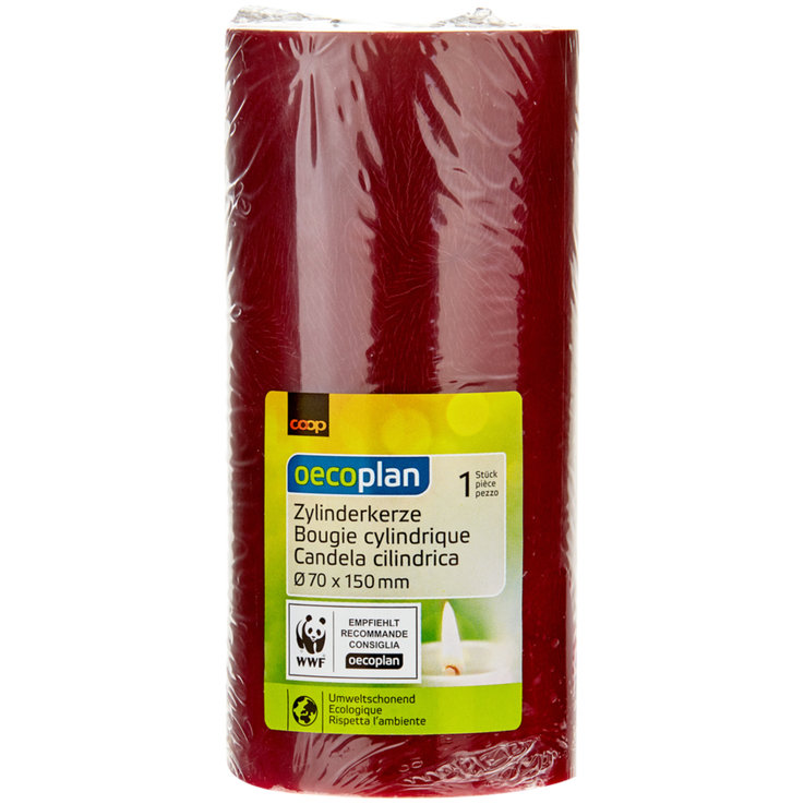 Table Candles - Oecoplan Dark Red Cylindrical Candle 70x150mm