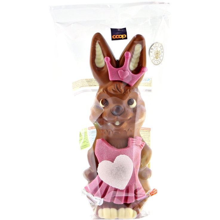 Marzipan, Sugar & Jelly - Fairtrade Princess Milk Chocolate Bunny with Marzipan