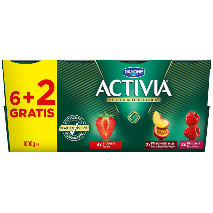 Baies - Danone Activia Yogourts aux fruits assortis 8x125g