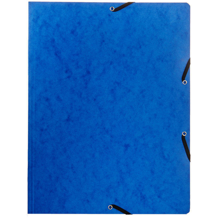 Mappen - Elasticated A4 Card Folder Blue
