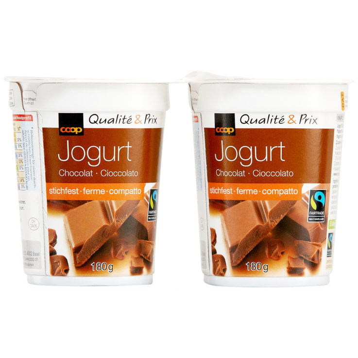 Chocolate & Stracciatella - Fairtrade Chocolate Yogurts 2x180g