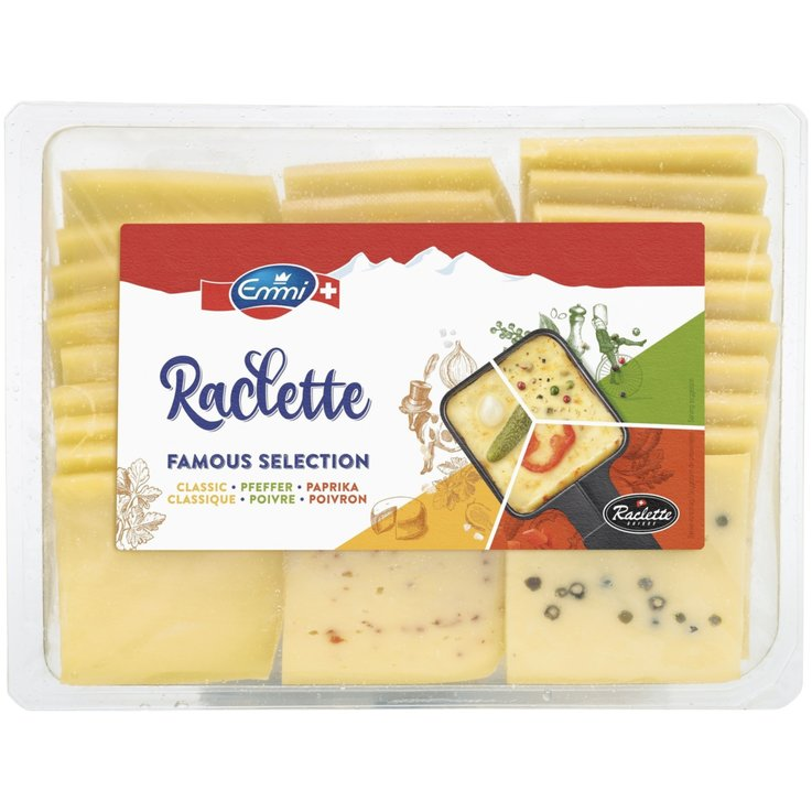 Raclette - Emmi Formaggio Raclette a fette assortito