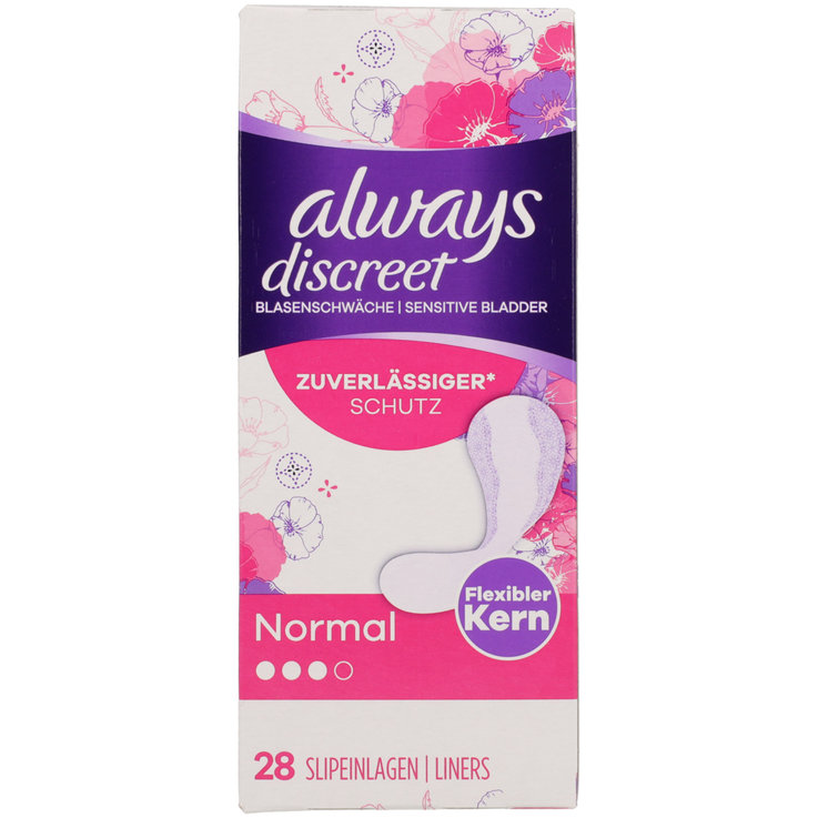 Panty Liners - Always Discreet Incontinence Pads 28 Pieces