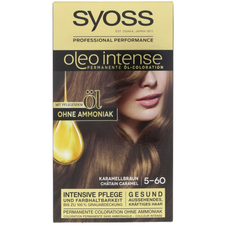 Brown & Black - Syoss Oleo Intense Caramel Blond 5-60 Hair Dye