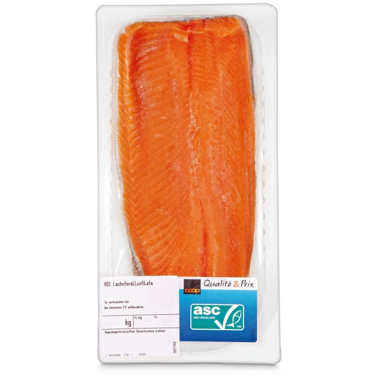 Packaged Fresh Fish - ASC Salmon Trout Fillet ca. 185g
