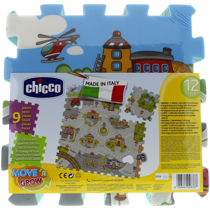Puzzle - Chicco City Puzzle Mats 9 Pieces 12 Months+