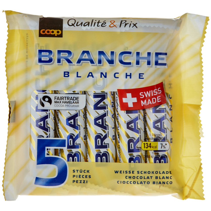 Chocolate Bars - Fairtrade White Chocolate Branches 5 Pieces