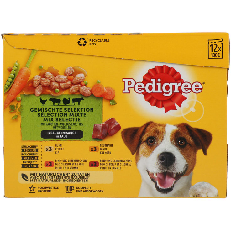 Nourriture humide - Pedigree Pouch Selection 12x100g