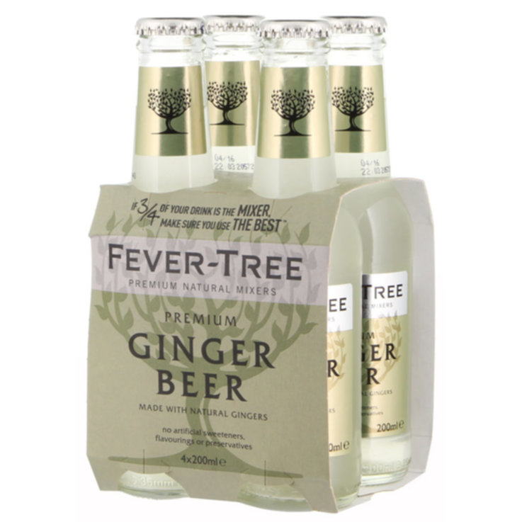 Bevande a base di birra & sidri - Fever Tree Ginger Beer 4x20cl