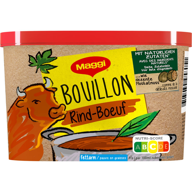 Fleisch-Bouillon - Maggi Rinds-Bouillon Natural