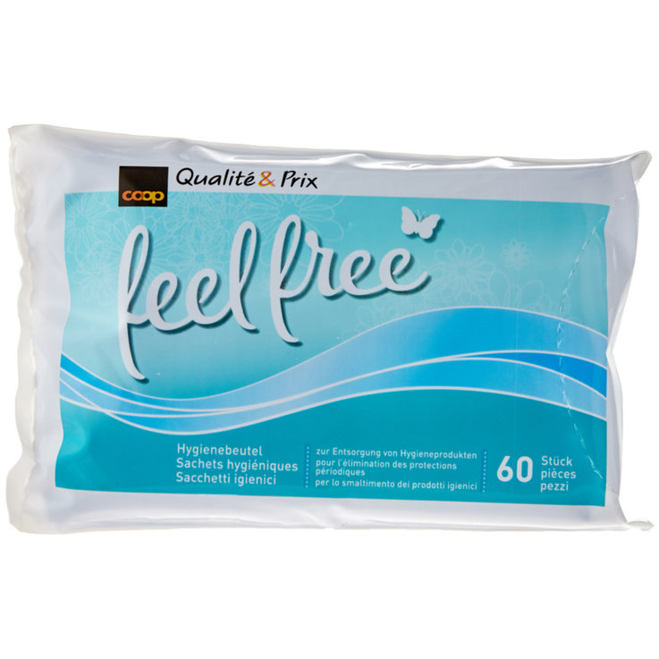 Sanitary Towels & Panty liner - feel free Hygienic Bags 60 Pieces