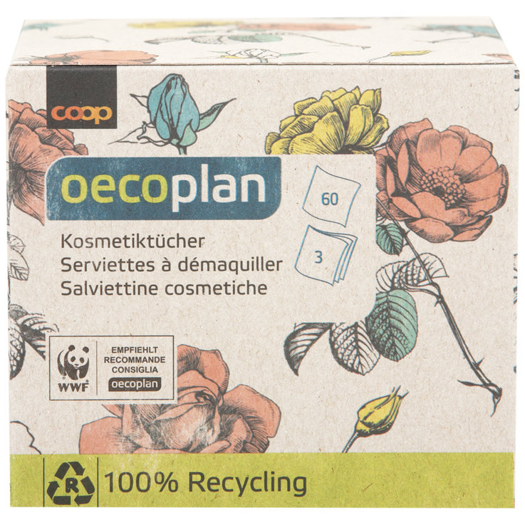 Facial Tissues - Oecoplan 3-Ply Makeup Removing Tissues 60 Pieces