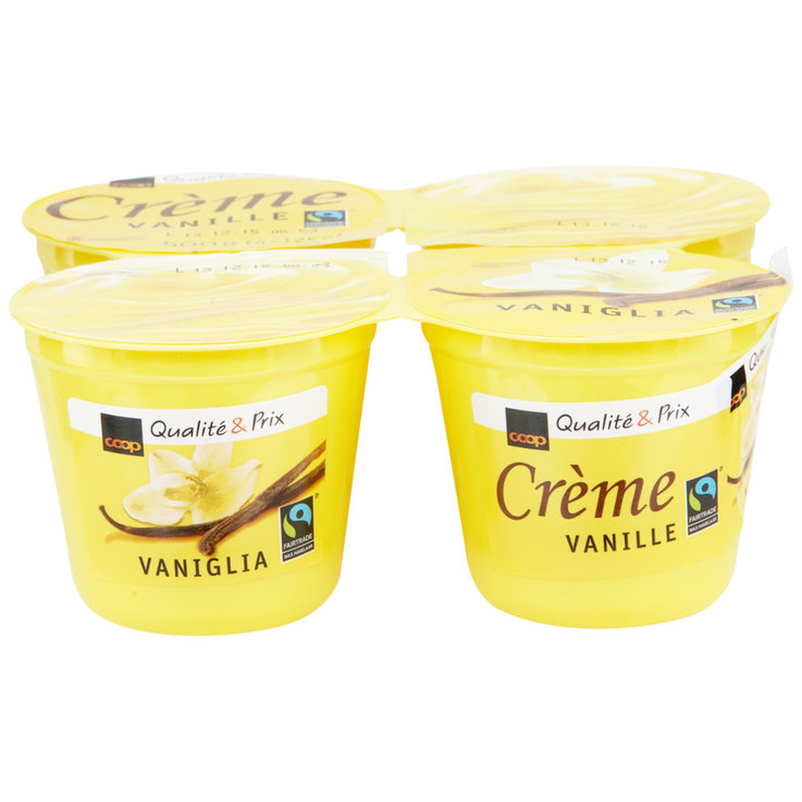 Cream & Mousse - Fairtrade Vanilla Cream Dessert 4x125g