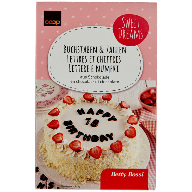 Decorations & Lettering - Betty Bossi Chocolate Letters & Numbers