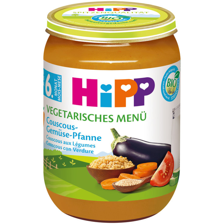 Vegetable Baby Food - Hipp Organic Vegetable Couscous Puree 6 Months+