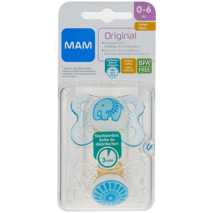 Pacifiers - MAM Latex Pacifiers 0-6 Months 2 Pieces