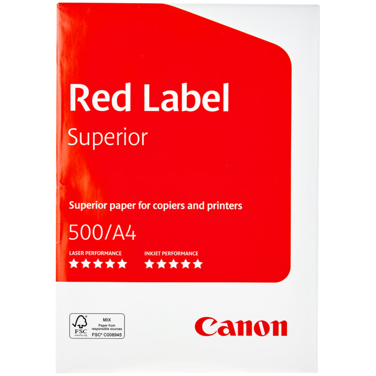 Papier - Canon A4 FSC Copy Paper Red Label 500 Sheets