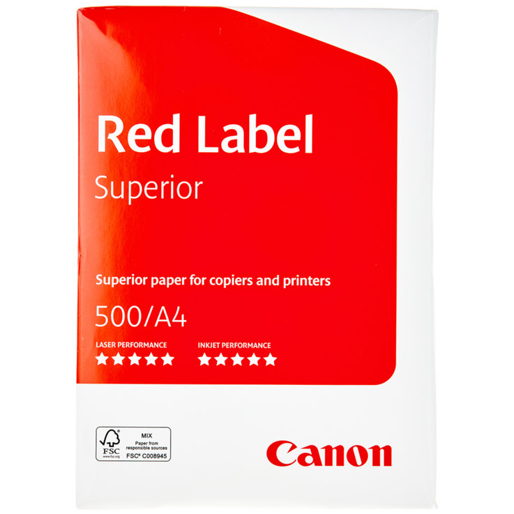Papier - Canon Red Label A4 90g Photocopy Paper 500 Sheets