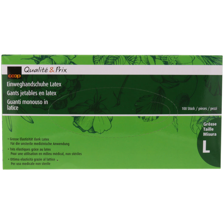 Accessories - L Latex Disposable Gloves 100 Pieces