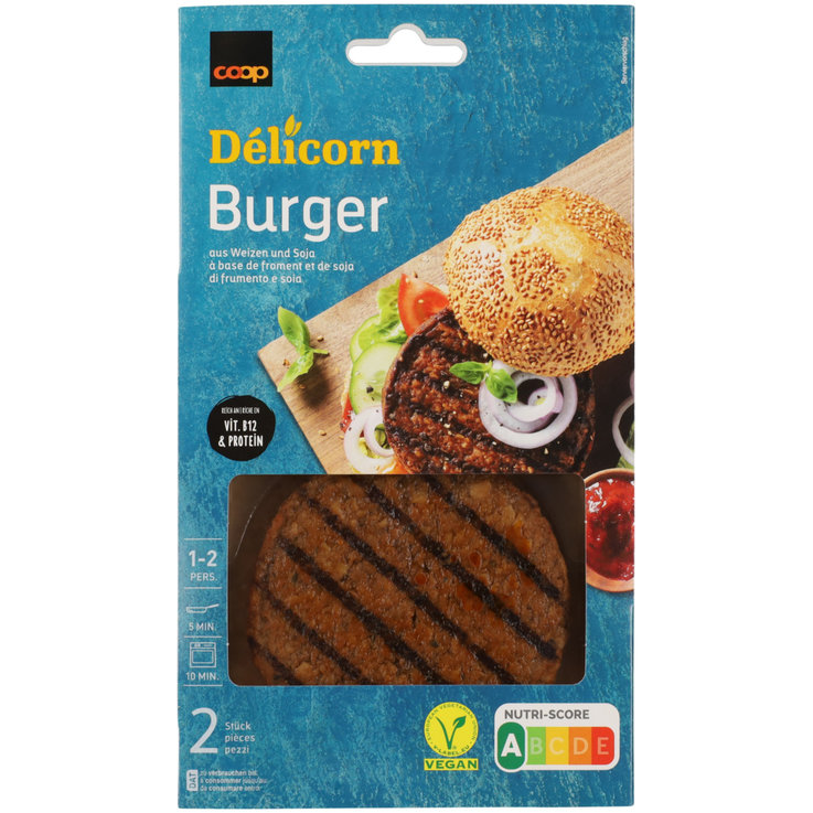 Meat Substitutes - Délicorn Vegan Burger