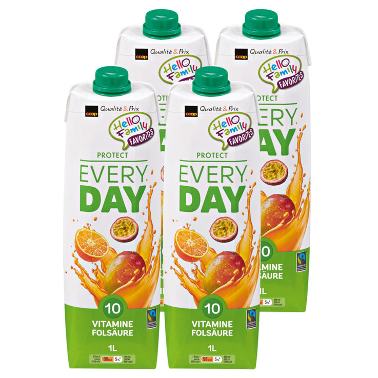 Autres jus de fruits - Fairtrade Jus aux fruits Everyday Protect 4x1l