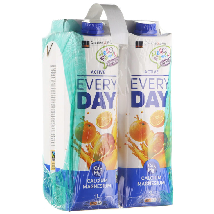 Autres jus de fruits - Fairtrade Jus aux fruits Everyday Active 4x1l