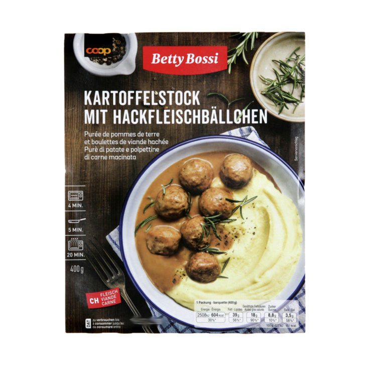 More Fresh Ready-Made Meals - Betty Bossi Meatballs with Potatoes