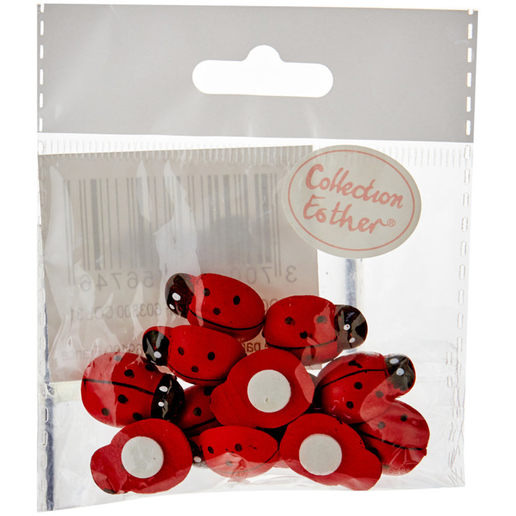 Miscellaneous - Small Ladybug Adhesive Polka Dots 12 Pieces