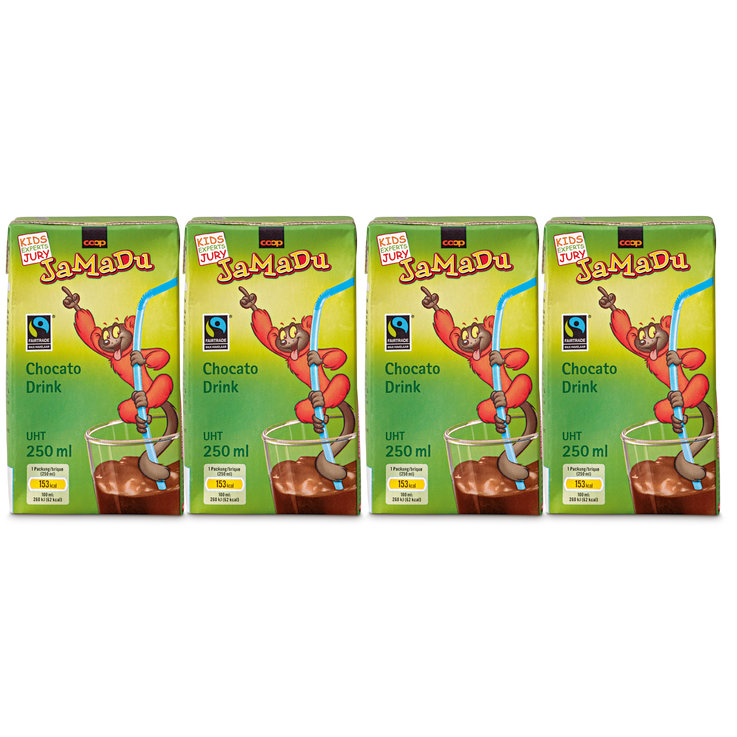 Schoko-Milch - JaMaDu Fairtrade Chocato Drink UHT 4x  250ml
