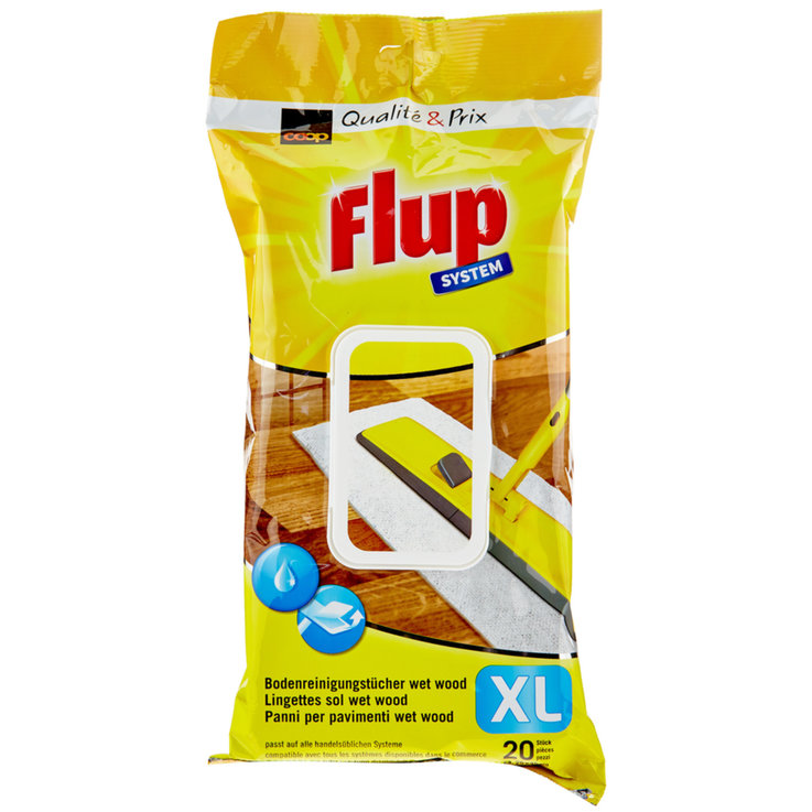 All-Purpose & Floor Cleaners - Flup XL Wet Wood Floor Wipes Pack of 20