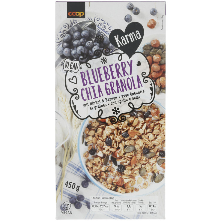 Muesli without Chocolate - Karma Blueberry Chia Granola
