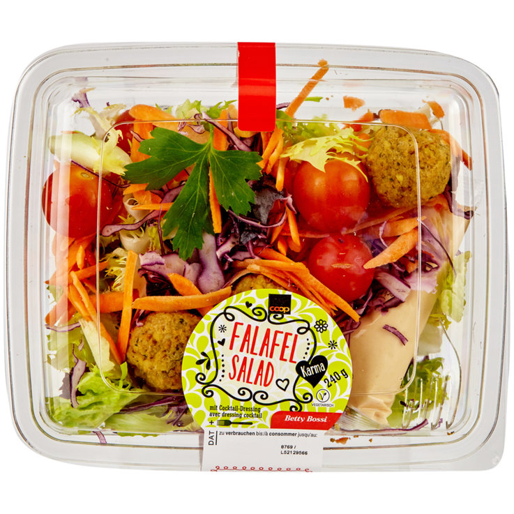 Pre-Packaged Fresh Salads - Karma Falafel Salad