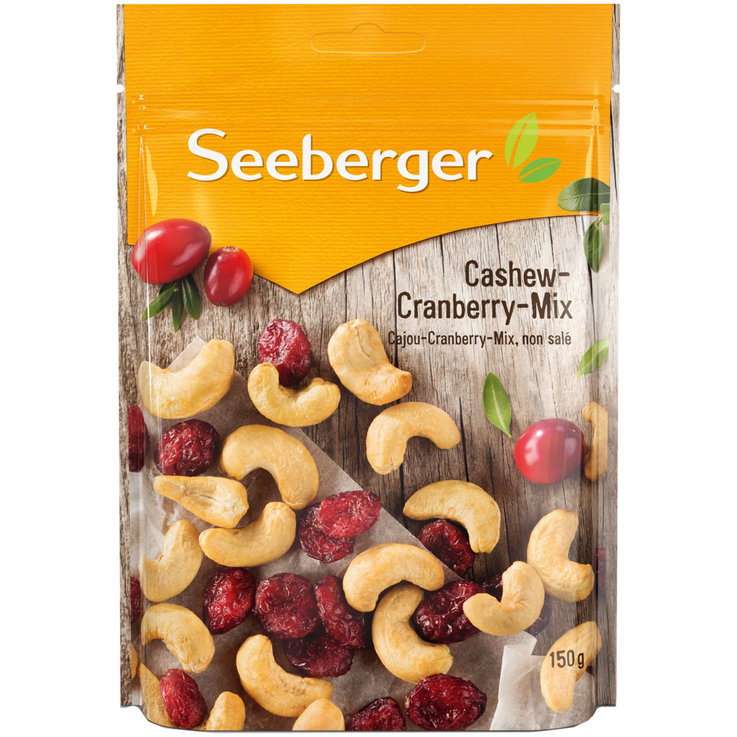 Mixed Fruit & Trail Mix - Seeberger Cashew Cranberry Mix