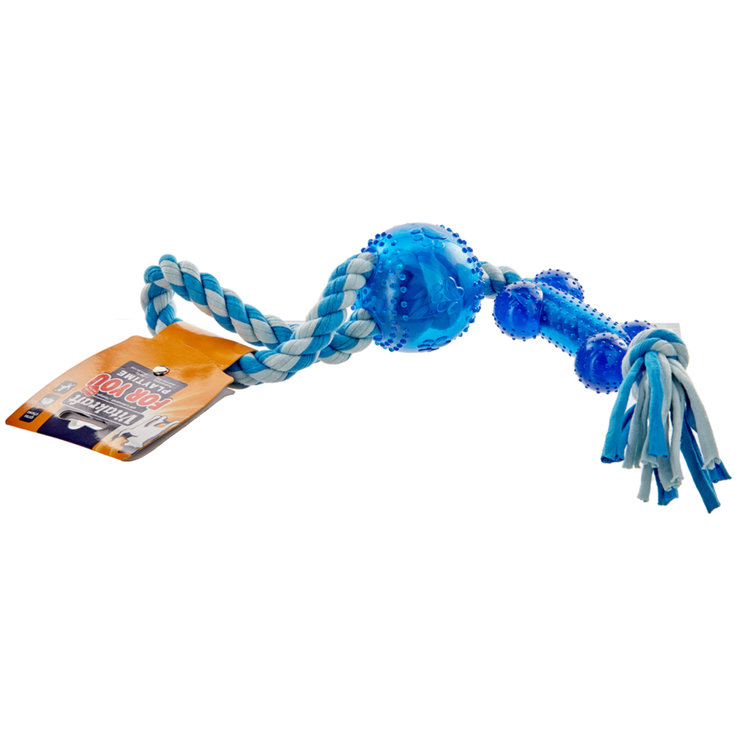 Toys for Dogs - Vitakraft Activity Rope with Bone Large for Dogs