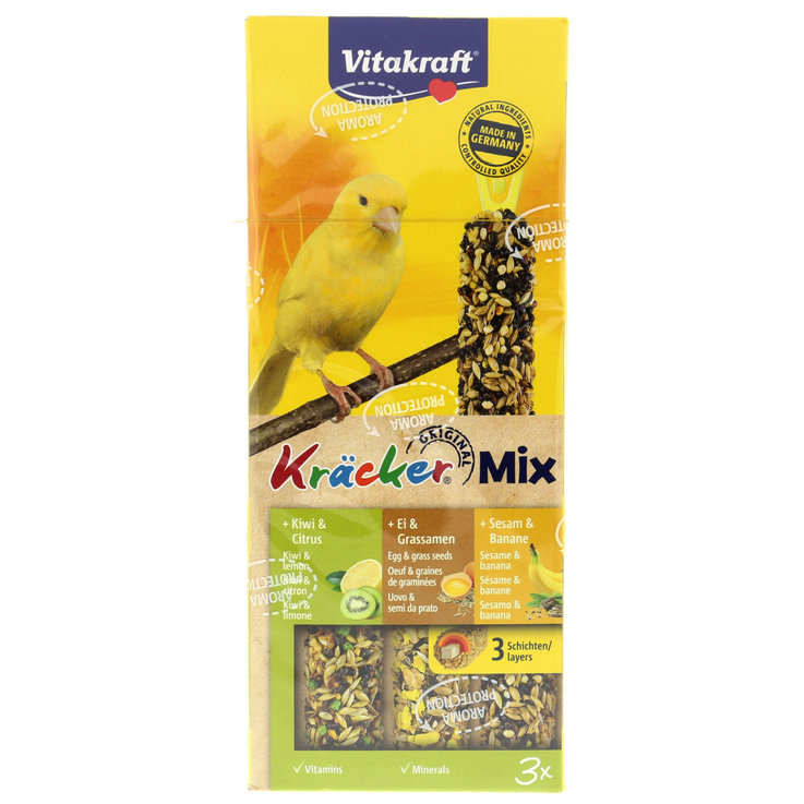 Canaries - Vitakraft Kräcker® Trio Egg/Kiwi/Ban. for Canaries Pack of 3