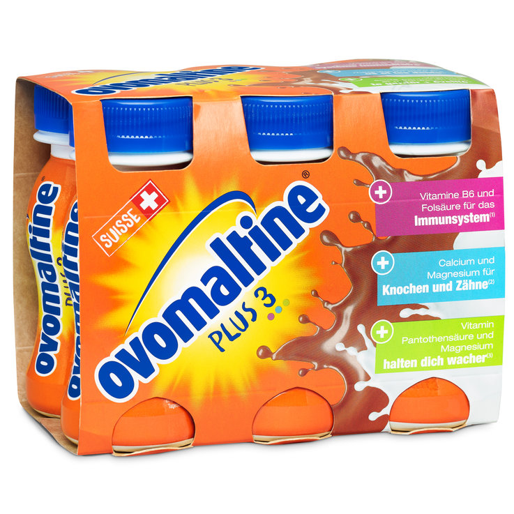Latte al cioccolato - Ovomaltine Plus Drink 6x100ml