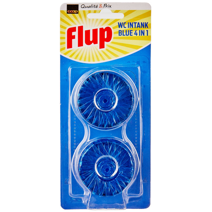 Toilet Rim Blocks - Flup Blue Bloc WC Cleaner 2 Pieces