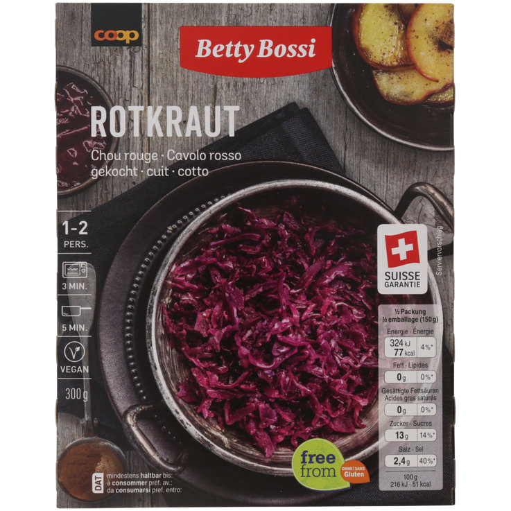 Sauerkraut & Red Cabbage - Betty Bossi Cooked Red Cabbage