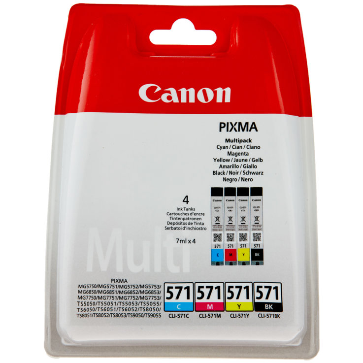 Canon - Canon CLI-571PA CMYK Ink Cartridge