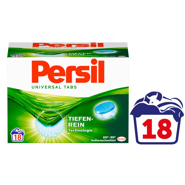 Universal & White - Persil Universal Laundry Detergent Capsules 18 Loads
