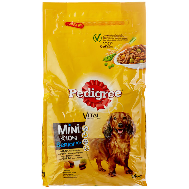 Dry Food - Pedigree Chicken Flavoured Dry Mini Senior Dog Food