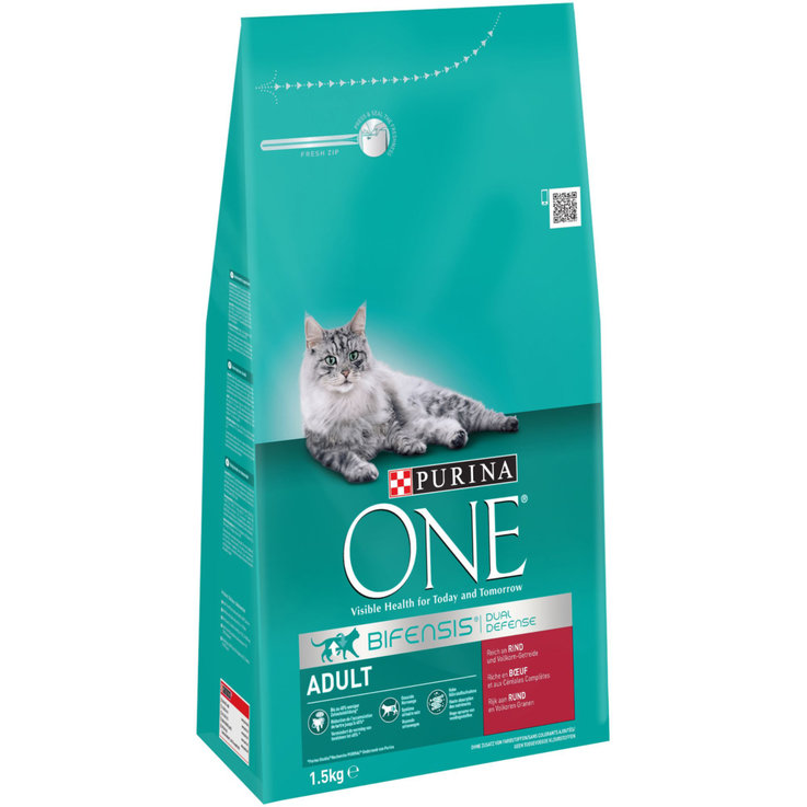 Crocchette - ONE Adult Manzo e Cereali Integrali 1.5 kg