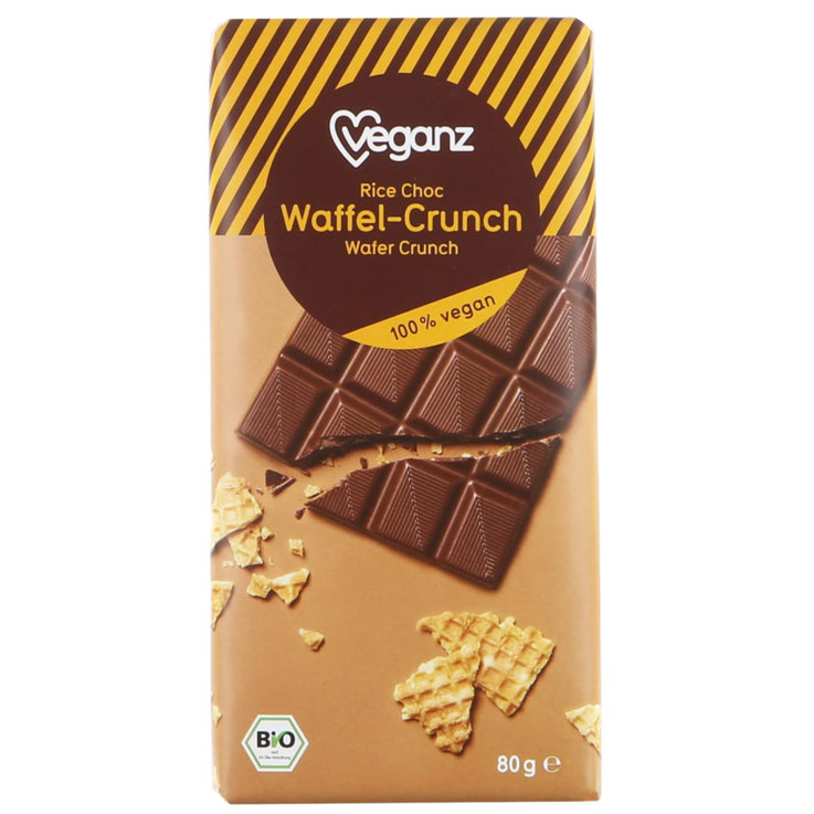 Milk with Ingredients - Veganz Crunchy Chocolate Bar with Wafer