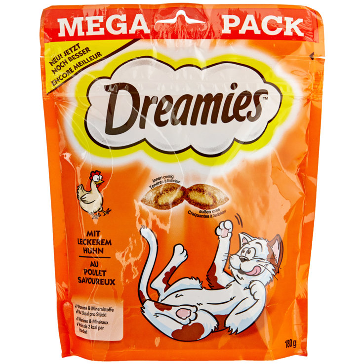 Snacks and Cat Milk - Dreamies with Chicken