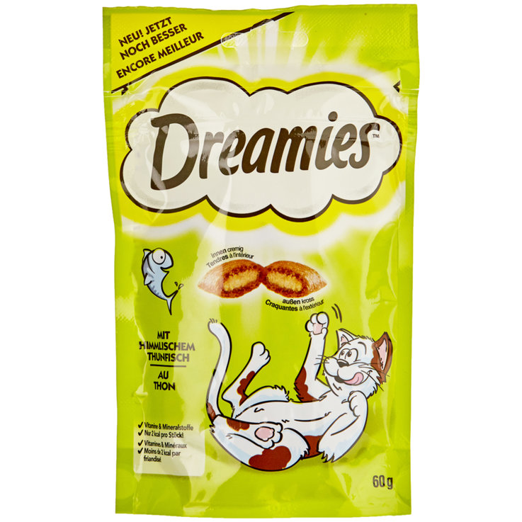 Snacks and Cat Milk - Dreamies with Tuna